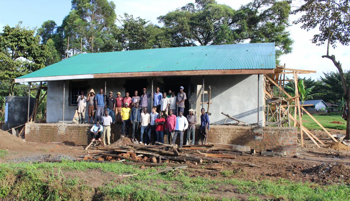 health centre under construction in Busamaga